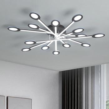 New design Brown/White Modern Led Ceiling Lights For Living Room Bedroom Plafon Inddor Ceiling Lamp Home Lighting Fixtures