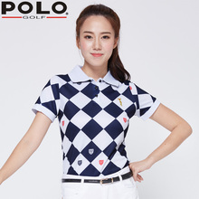 020243 New Golf Clothing Women Summer Golf Polo Shirts Lady Tennis Short Sleeves Korean Tshirt Jacket Mujer Femme Uniform