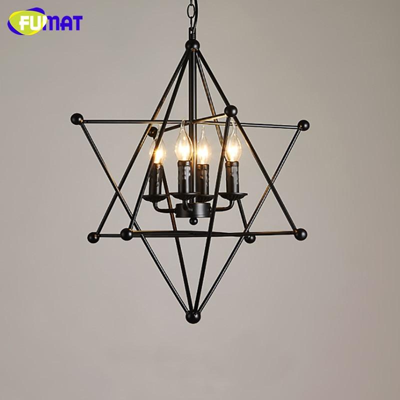 FUMAT lampe suspension nordique LED grande ourse lampe à main industrielle Loft fer barre à café luminaire suspendu luminaire suspension vintage