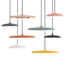 Nordic UFO Pendant Light Dia.40cm Home Lighting Modern Hanging Lamp metal Lampshade PC cover LED Bulb Bedroom Coffee Kitchen