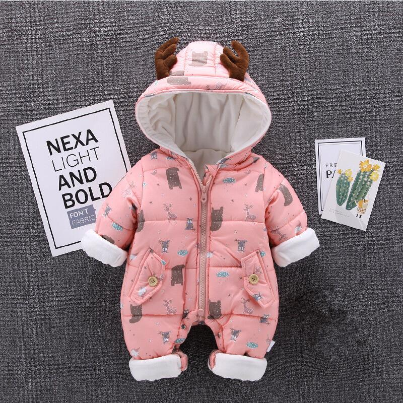 Winter Baby Girl Boy Clothes Toddler Baby Romper Warm Thick Newborn Baby Jumpsuit Overalls Cotton Christmas Outfit Clothing фотоаппарат sony cyber shot dsc rx10m2