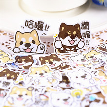 40 pcs Cute little terrier  Sticker for Luggage Skateboard Phone Laptop Moto Bicycle Wall Guitar/Eason Stickers/DIY Scrapbooking 36 pcs cartoon cute bear sticker for luggage skateboard phone laptop moto bicycle wall guitar stickers diy scrapbooking