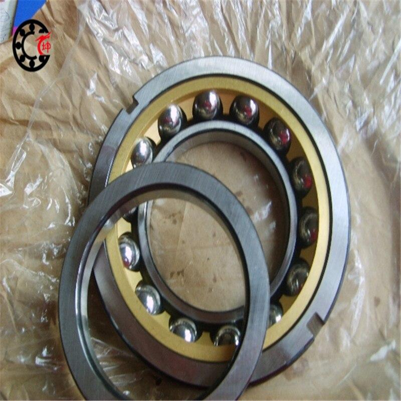 40mm diameter Angular contact ball bearings 7208 C/P2DB 40mmX80mmX36mm,Contact angle 15,ABEC-9 Machine tool