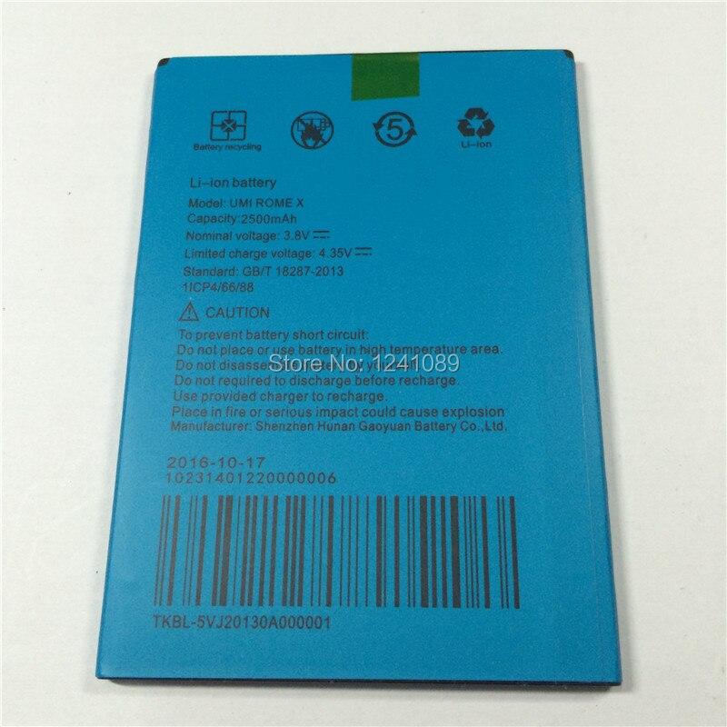 100% Оригинальный аккумулятор <font><b>UMI</b></font> Рим х <font><b>UMI</b></font> Рим аккумуляторной батареи 2500 мАч оригинального качества батареи мобильного телефона долгое время р&#8230;