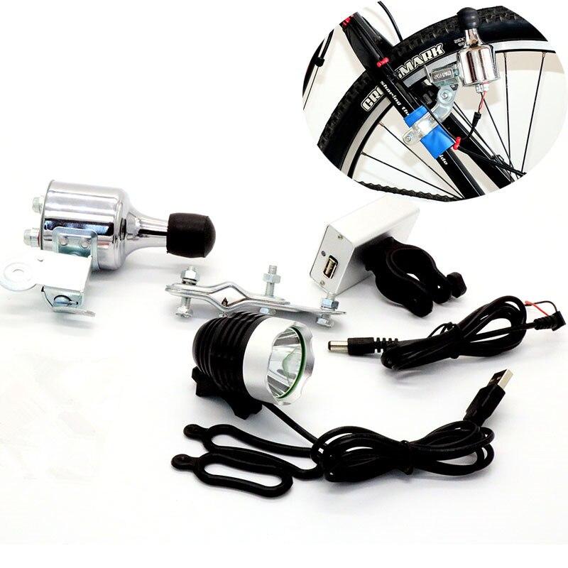 Le vélo en aluminium de 3 modèles allume le générateur de frottement l'aimant Permanent sans brosse Rechargeable allumant le feu arrière de tête