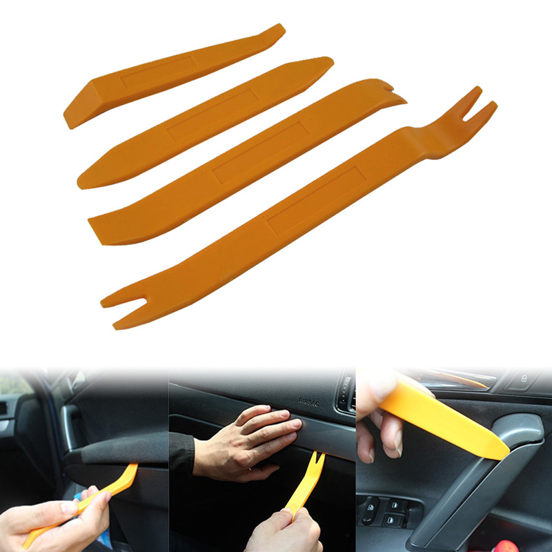4Pcs Plastic Car Disassembly Interior Kit Audio Removal Trim Panel Dashboard Car DVD Player Auto Trim Removal Tool