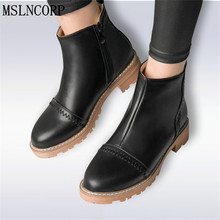 цены Size 34-43 Autumn Designer Women Winter Boots Female Classic Zipper Anti Slip Snow Ankle Boots Ladies Casual Shoes Martin Boots