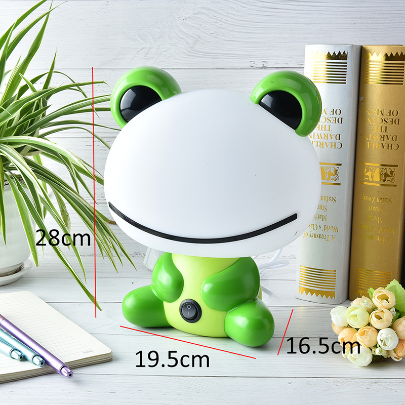 Cartoon Frog Table Lamps LED Night Sleeping Night Lamp Kids Bed Lamp With Bulb Baby Feeding Desk Night Lights 19.5X16.5X28cm