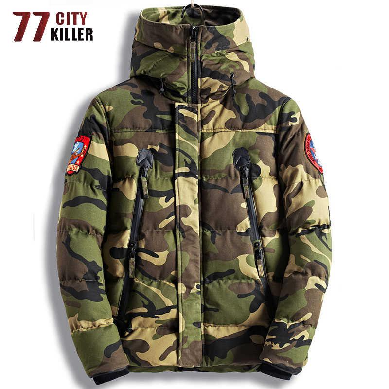 77 городской убийца зимние куртки мужские в стиле милитари камуфляж парка мужские ветровки толстые теплые пальто мужские Chaquetas Hombre