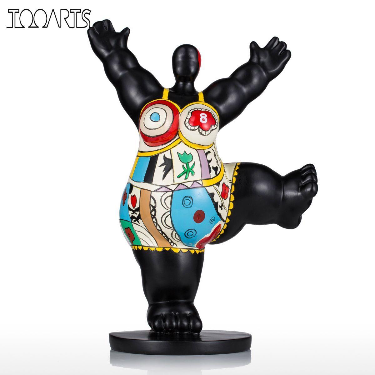 Tooarts Skulptur Schneidigen Fett Frau Fiberglas Skulptur Exaggerative Modellierung Dekorative Ornament Für Home Office-in Statuen & Skulpturen aus Heim und Garten bei  Gruppe 1