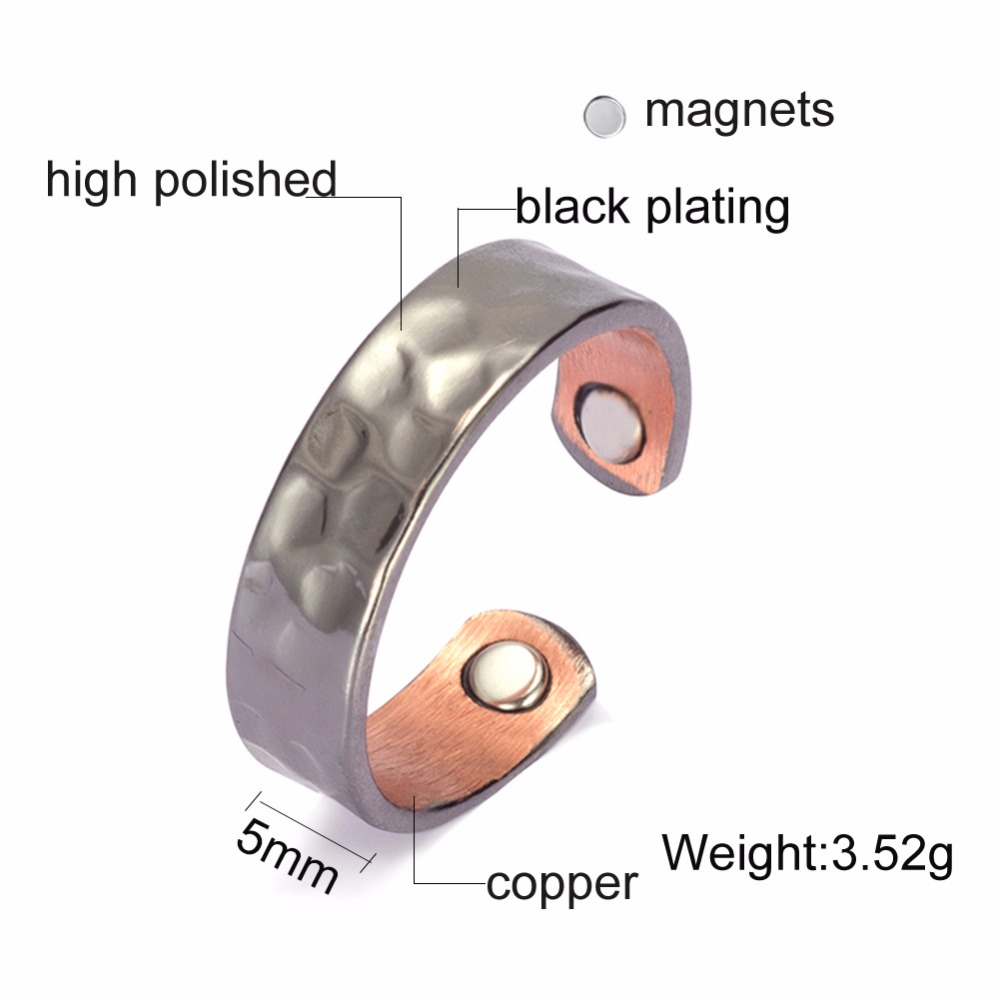magnetic arthritis ring pure dp and earth rings com amazon women relief copper elegant therapy bracelet ounce for