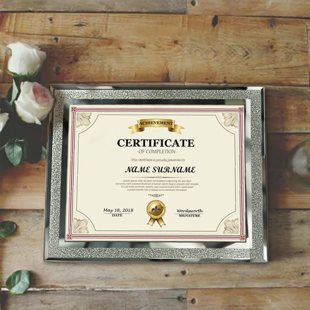 giftgarden  glass picture frames  silver edge