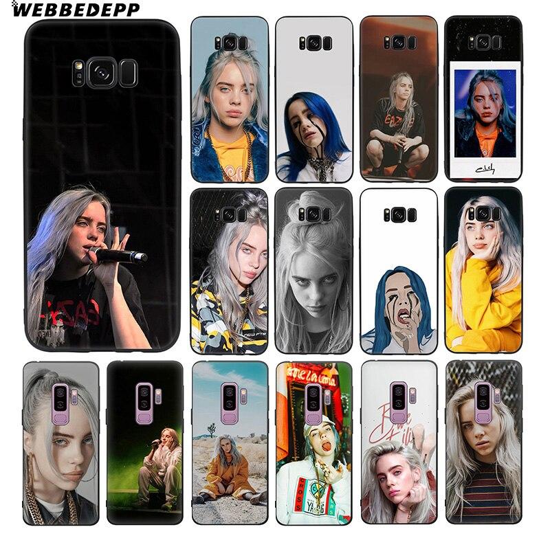 WEBBEDEPP Billie Eilish Soft TPU Silicone Case for Samsung Galaxy S10 S10e S9 S8 Plus S7 S6 Edge & J6