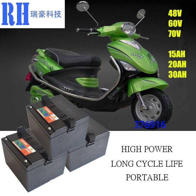 Литий ионная аккумуляторная батарея 48V 15AH/20AH/30AH для электрических велосипедов и источник питания 48V (бесплатное зарядное устройство)