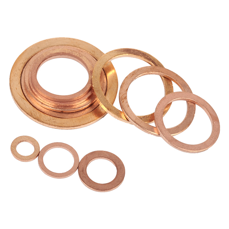 M11//M12 Thick 1,5mm Metric Copper Flat Ring Oil Drain Plug Crush Washer Gaskets