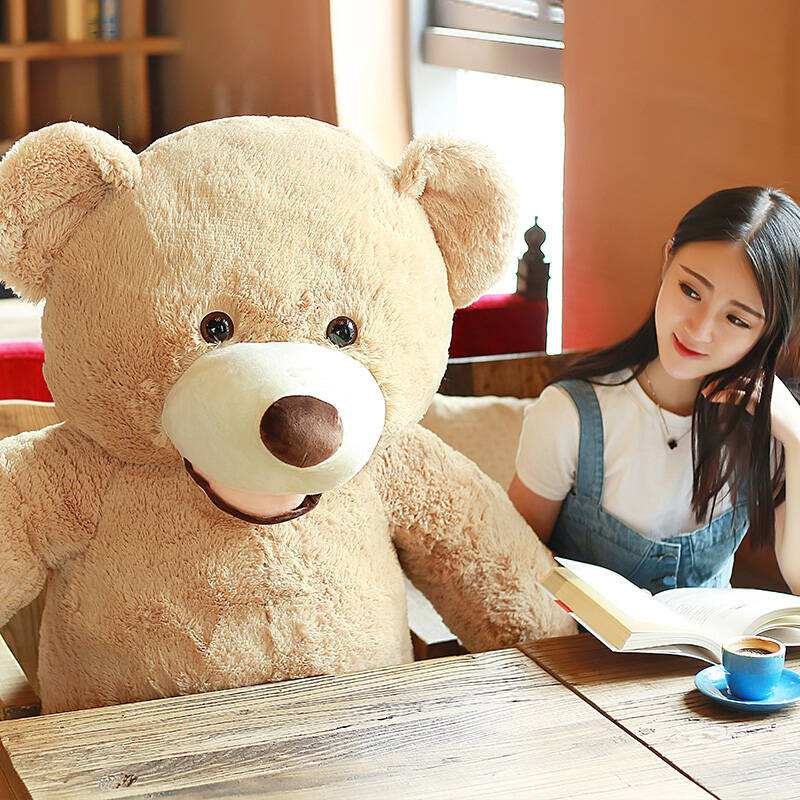 [ Funny ] 130cm Huge big America bear Stuffed animal teddy bear cover plush soft doll pillow cover ( without stuff ) baby toys