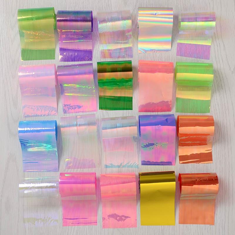 20 Pçs/set Céu Estrelado Prego Foils Prego Transferência Art Papel Adesivo Moda DIY Dicas de Decoração de Unhas