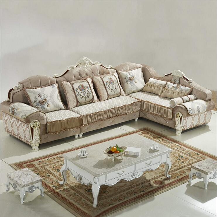 living room furniture modern fabric sofa European sectional sofa set a1277