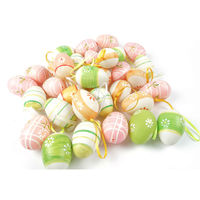 24PCS Plastic Easter Egg Decoration 6cm 4cm For Easter Decoration Supplies Clorful Eggs More Colors Easter