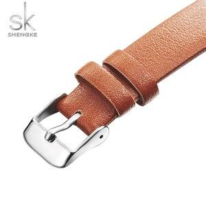 Image 4 - Shengkeใหม่ผู้หญิงนาฬิกาCreativeใบDialหนังควอตซ์นาฬิกาแฟชั่นCasulสุภาพสตรีนาฬิกาข้อมือMontre Femme
