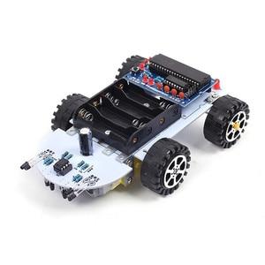 Image 2 - DIY Kit C51 inteligentny pojazd unikanie przeszkód śledzenie inteligentny zestaw samochodowy dwa napędy silnikowe inteligentny pojazd samochód robot