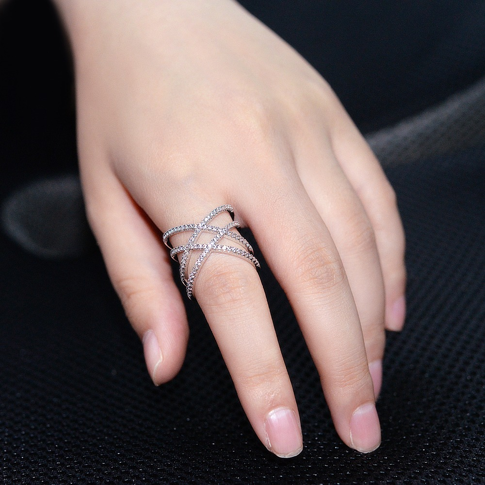 2017 New Fashion Jewelry Unique Design Knuckle Ring White/Rose ...