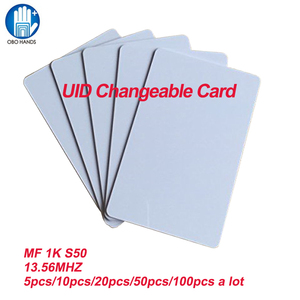 Image 2 - UID Changeable IC Card Smart RFID Card for MF 1K S50 libnfc RFID 13.56MHz ISO14443A Card Block 0 Sector Writable(5/20/50/100pcs)