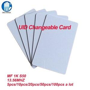 Image 2 - UID للتغيير IC بطاقة بطاقة ذكية للتعريف بالإشارات الراديوية ل MF 1K S50 ليبنفك تتفاعل 13.56MHz ISO14443A بطاقة كتلة 0 قطاع للكتابة (5/20/50/100 قطعة)