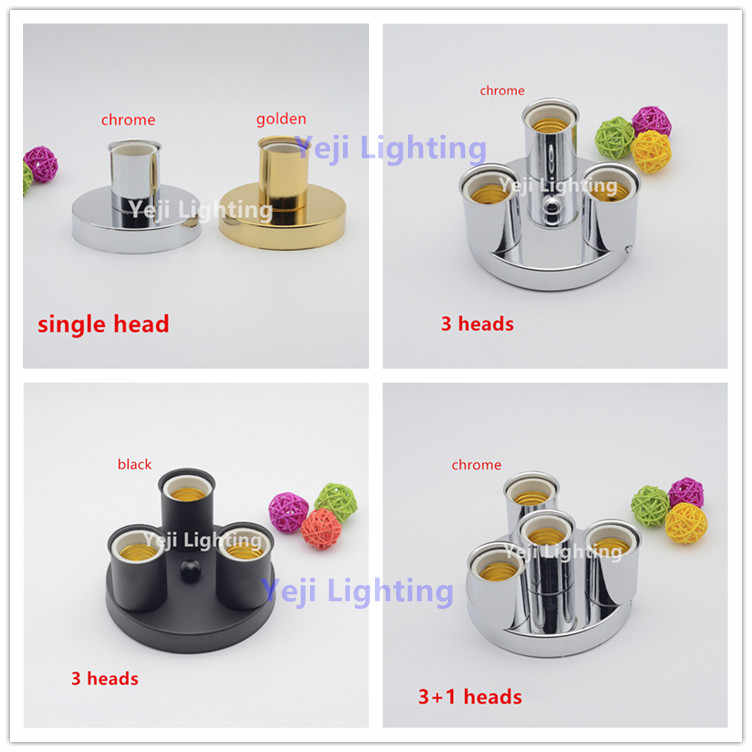 ceiling plate with Multiple lamp holder for Wall lamp bar cafe Clothing store Study  chandelier Lighting Accessories diy