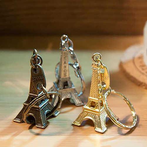 Bluelans Kim Loại Paris Tháp Eiffel Mặt Dây Chuyền Móc Khóa Móc Khóa Keyfob Móc Khóa Xmas Tặng Màu Ngẫu Nhiên