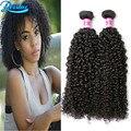 Peruano Rizado Rizado Pelo de la Virgen 2 Bundle Ofertas Curly Weave 8A Grado Afro Rizado Pelo Virginal Sin Procesar Del Pelo Humano Barato paquetes