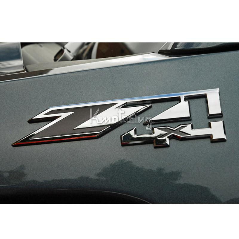 New 7inch Silver With 3d Z71 4x4 Emblem Car Decal Sticker For