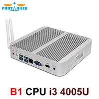 Partaker Cheapest i3 Haswell Mini PC Windows 10 Barebone Computer Intel Core i3 4005U 1.7GHz HD 4400 Graphics HTPC wifi HDMI