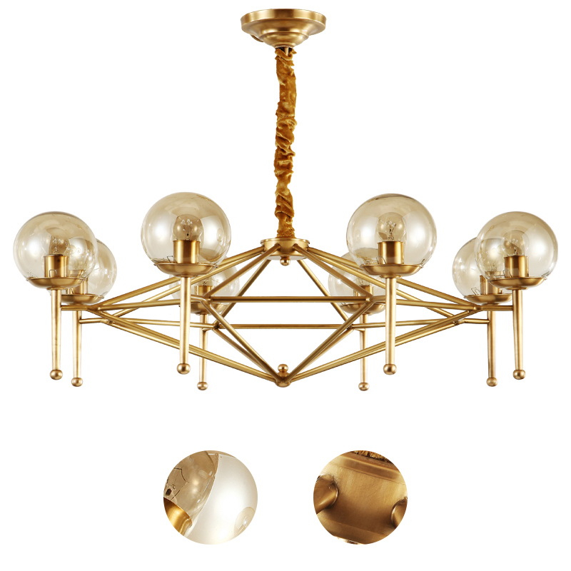 American postmodern personality all copper chandelier artistic originality of droplight sitting room dining-room lamp american rural wall lamp all copper bedroom berth lamp lens headlight corridor european contracted sitting room single head wal