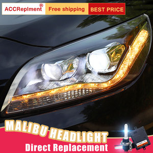 Image 1 - 2 Cái Đèn Pha LED Cho Chevrole Malibu 11 14 Đèn LED Xe Hơi Ô Tô Đèn Đôi Mắt Thiên Thần Đèn Xenon HID Bộ Đèn Sương Mù đèn LED Đèn Chạy Ban Ngày