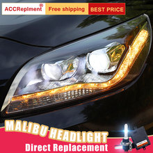 2 шт. светодиодный комплект фар для автомобиля Chevrole Malibu 11 14, светодиодный комплект фар Angel eyes xenon HID, противотуманные фары, светодиодный, дневные ходовые огни