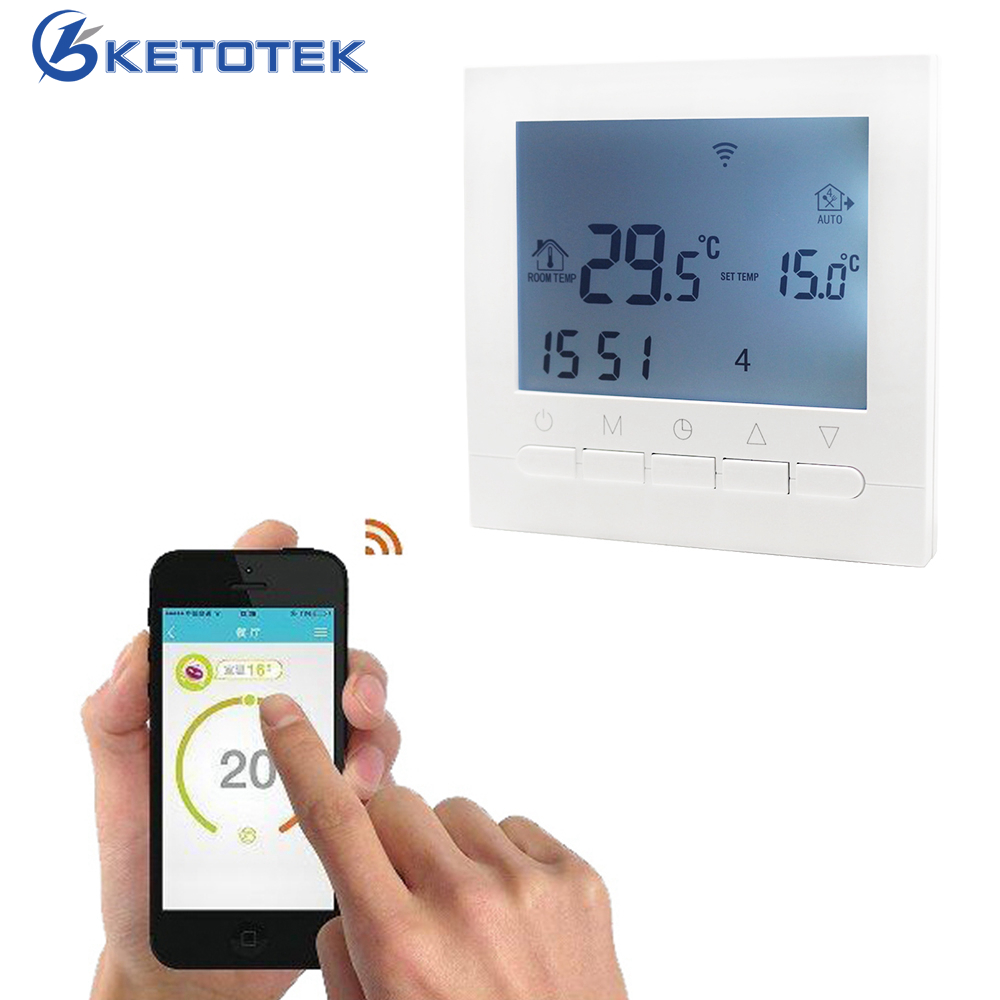 Wifi Floor HeatingThermostat Temperature Controller Regulator 220V 16A/3A LCD Touch Screen Programmable Blue Backlight Eletric защитная пленка deppa для lg k10 глянцевая