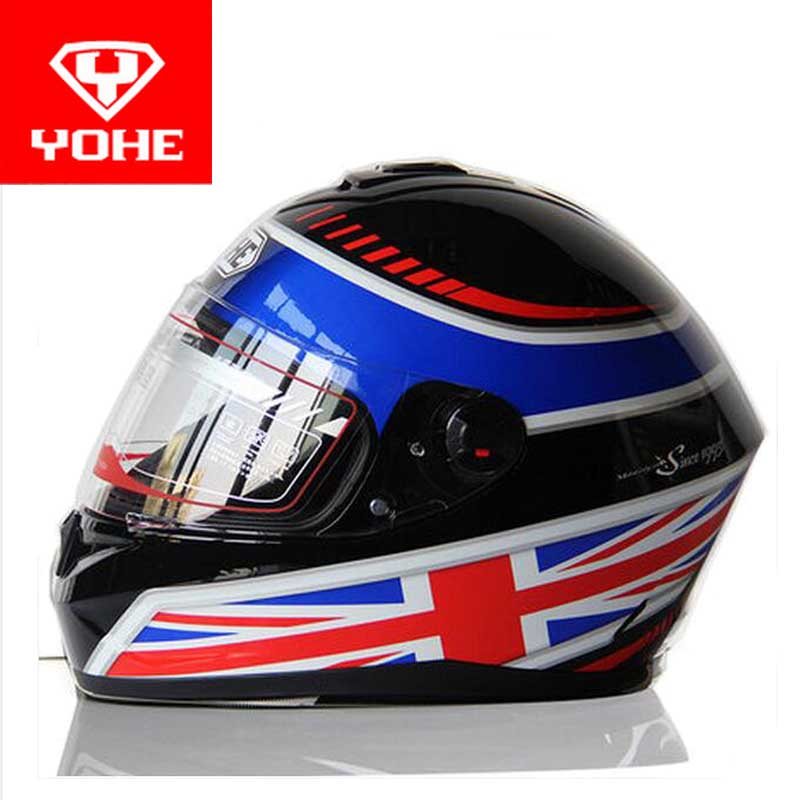 2017 New style YOHE full face Motorcycle helmet Motor running motorbike helmets Warm scarf of ABS and PC visor lens Model YH966 simple style vintage full face helmet custom made motorcycle helmet retro motor helmet