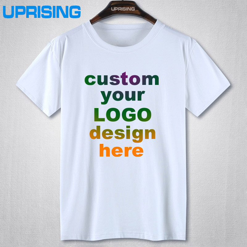 Custom printed personalized t shirts designer logo mens t for Luxury t shirt printing
