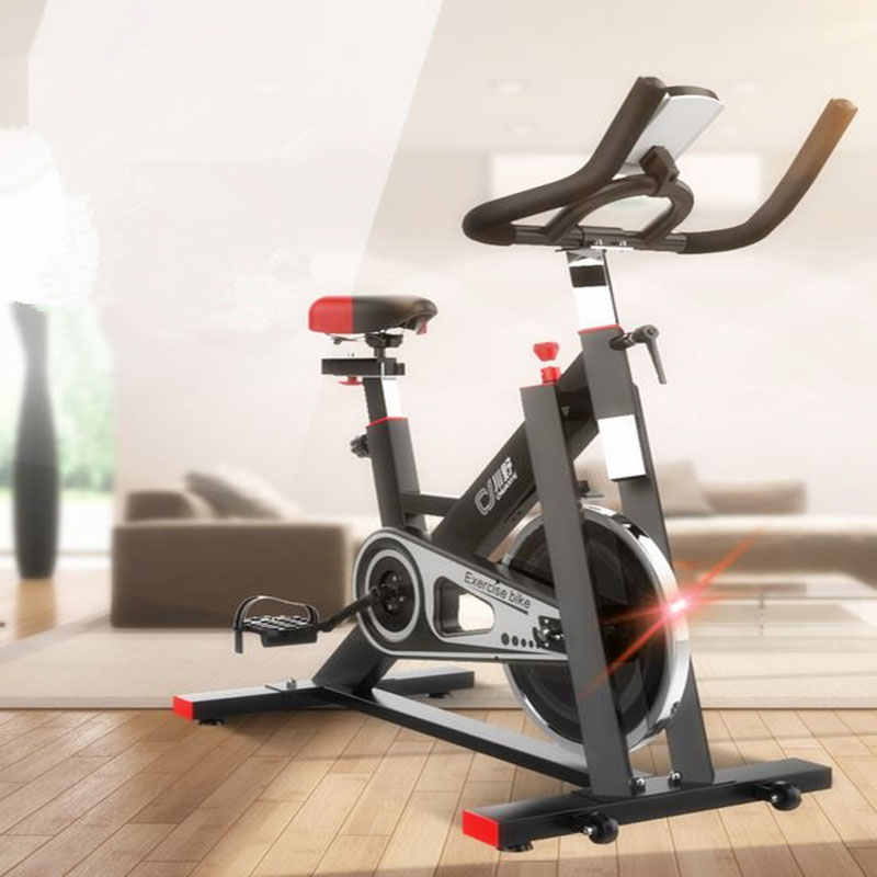 Indoor exercise bike spinning bike, with electronic watch, six kilogram inertia flywheel, weight 200kg, black and white