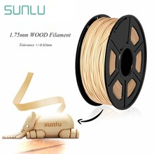 SUNLU 1.75mm 3D Printer Wood Filament 10% Wood Fiber PLA 3D Filament Close Wooden Effect Printing Consumable 1KG With Spool