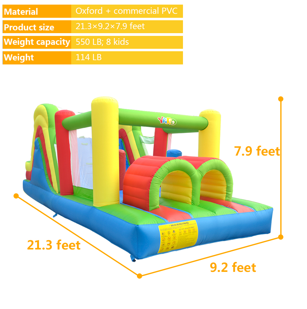 HTB1Js3TSXXXXXbkXpXXq6xXFXXXW - YARD Residential Inflatable Bouncer Bounce House Combo Slide for Children with Air Blower