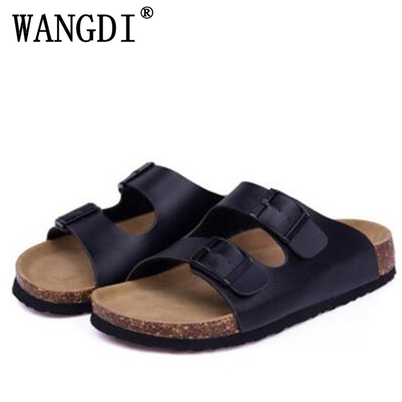 Women Shoes Sandals Slippers Summer Lady Flats Sandals Cork Slippers Casual Shoes Mixed Colors Beach Slides Plus Size 35-43 summer couple slippers 2016 new tide male cork slippers couple slippers beach sandals women sandals page 6