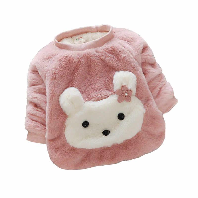 BibiCola เด็กทารกเสื้อกันหนาวฤดูหนาว 2020 ใหม่สาวแขนยาวเสื้อผ้าเด็กฤดูใบไม้ร่วงกำมะหยี่เสื้อกันหนาวสำหรับหญิง