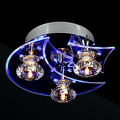 Luminaire LED Modern Crystal Ceiling Light Lamp With 3 Lights For Living Room Lustres De Cristal Free Shipping