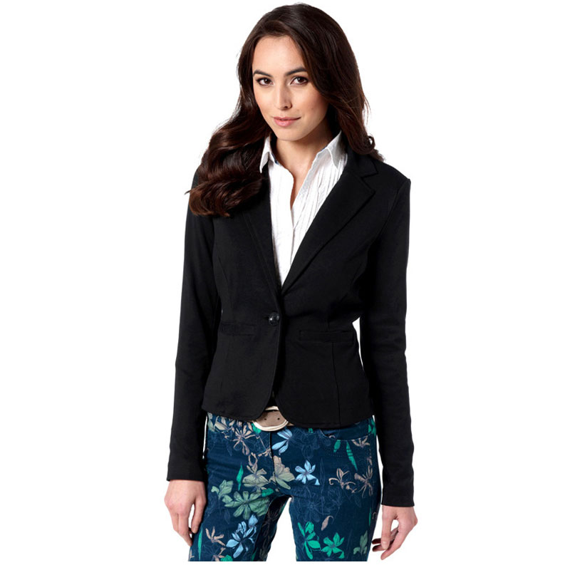 Women Jacket Casual Suit Coat 2017 Spring&Autumn Hot-selling Europe Fashion Design Short Slim Fit Print Single Notched Breasted