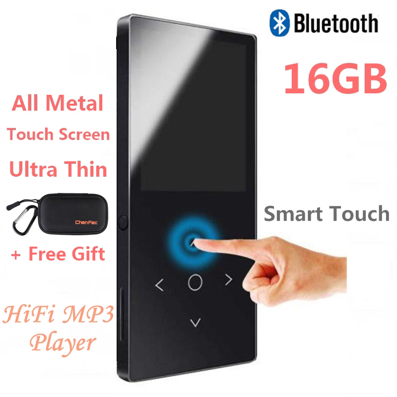 2018 Touch Key Bluetooth HIFI MP4 Player 16GB Multi-language Shatterproof Scratch Resistant FM Radio, E-Book Metal Music Player green for ipod nano3 3th generation 32gb fm video e book with film mp3 5 music player free ship a variety of language