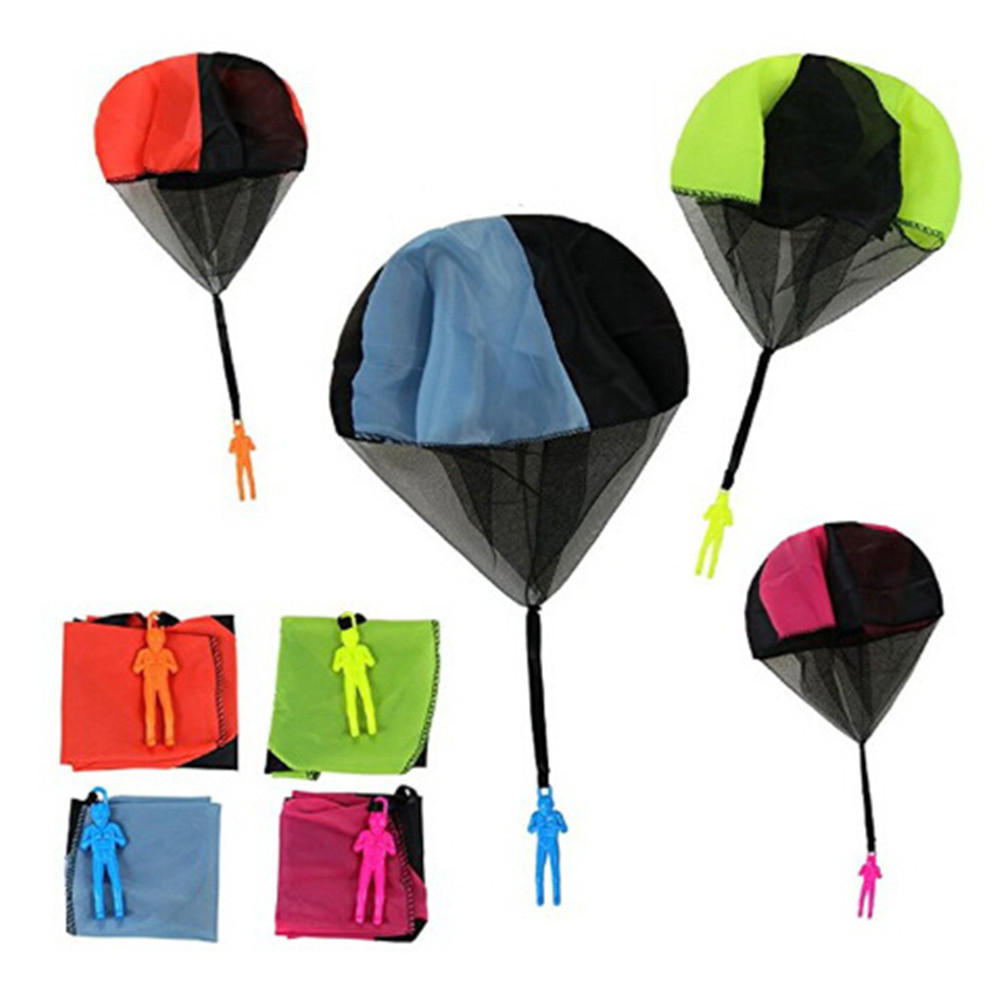 4 Colors Parachute Soldier Toy Outdoor Sports Fun Children Intelligence Development Educational Toys Gift Mini Parachuter Toys