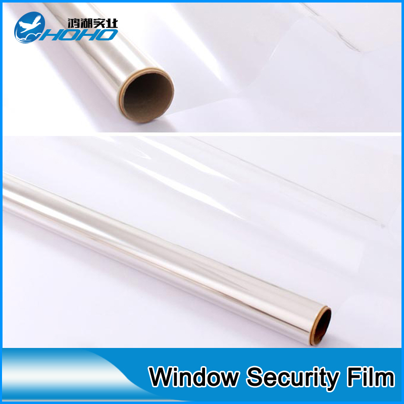High Strength 8mil Clear Safety Film For Glass Window 20