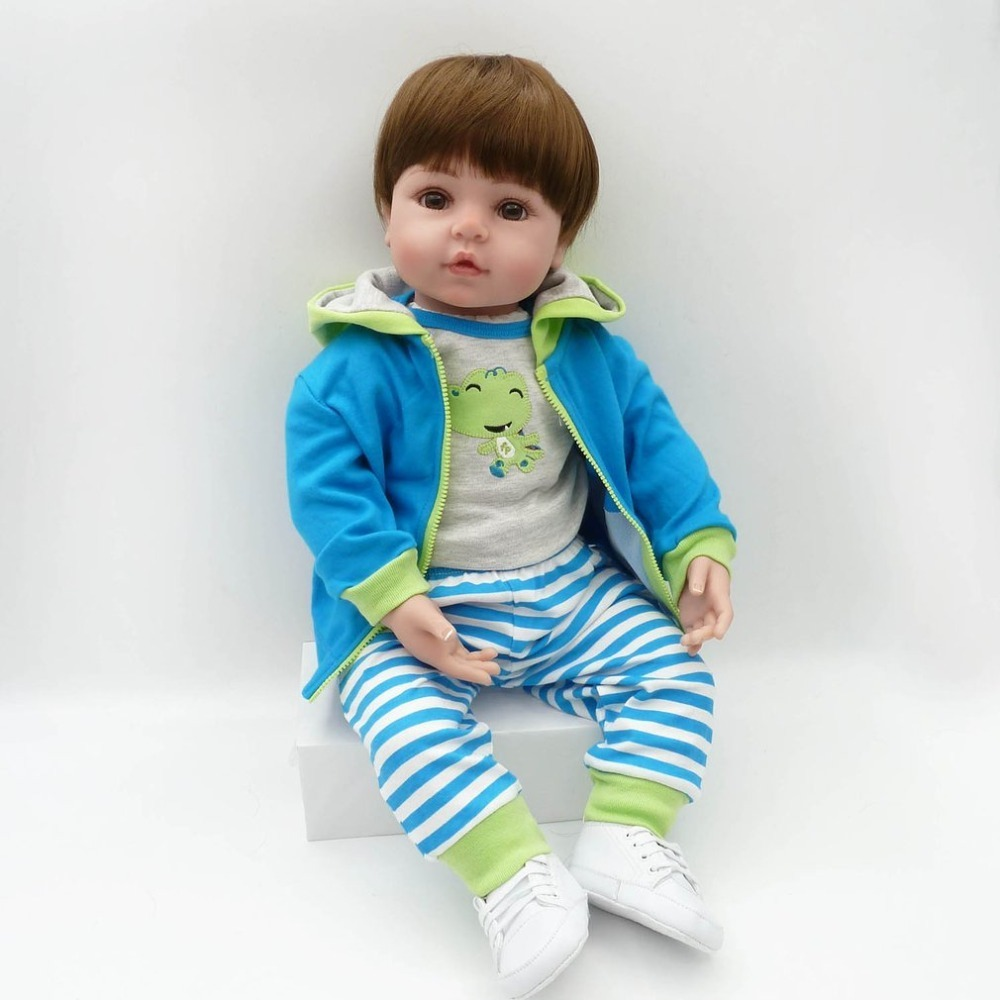купить OCDAY Soft Silicone Vinyl Baby Reborn Doll Toys 58cm Full Body Silicone Safety Handmade Babe Reborn Doll Playmate For Girls по цене 6790.23 рублей